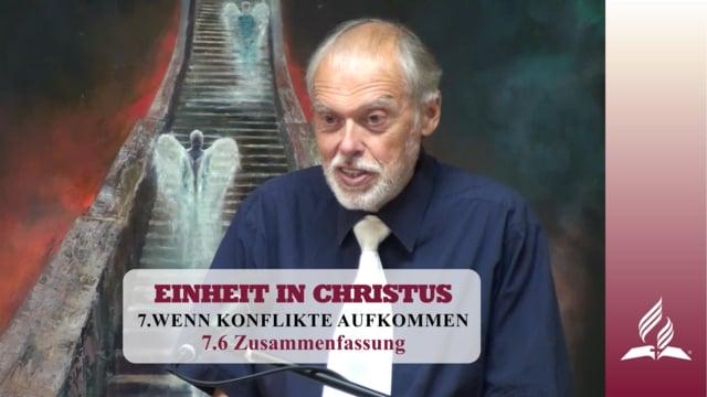 7.6 Zusammenfassung – WENN KONFLIKTE AUFKOMMEN | Pastor Mag. Kurt Piesslinger