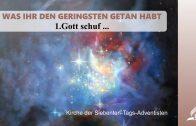 1.GOTT SCHUF … – WAS IHR DEN GERINGSTEN GETAN HABT | Pastor Mag. Kurt Piesslinger