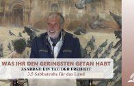 3.5 Sabbatruhe für das Land – SABBAT: EIN TAG DER FREIHEIT | Pastor Mag. Kurt Piesslinger