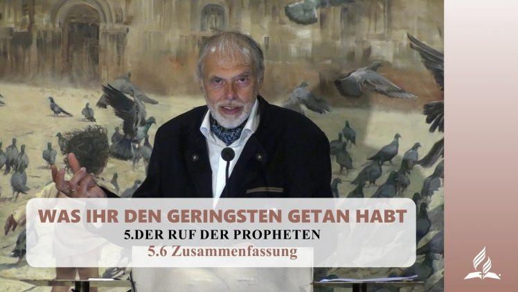 5.6 Zusammenfassung – DER RUF DER PROPHETEN | Pastor Mag. Kurt Piesslinger