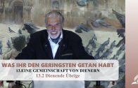 13.2 Dienende Übrige – EINE GEMEINSCHAFT VON DIENERN | Pastor Mag. Kurt Piesslinger
