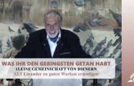13.5 Einander zu guten Werken ermutigen – EINE GEMEINSCHAFT VON DIENERN | Pastor Mag. Kurt Piesslinger