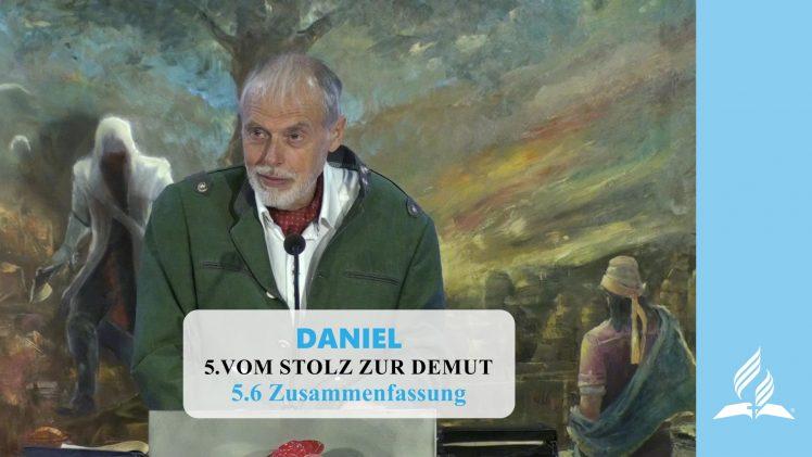 5.6 Zusammenfassung – VOM STOLZ ZUR DEMUT | Pastor Mag. Kurt Piesslinger