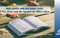 3.WIE JESUS UND DIE APOSTEL DIE BIBEL SAHEN – WIE LEGEN WIR DIE BIBEL AUS | Pastor Mag. Kurt Piesslinger