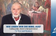 7.4 Text und Kontext – SPRACHE, TEXT UND KONTEXT | Pastor Mag. Kurt Piesslinger