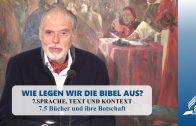 7.5 Bücher und ihre Botschaft – SPRACHE, TEXT UND KONTEXT | Pastor Mag. Kurt Piesslinger