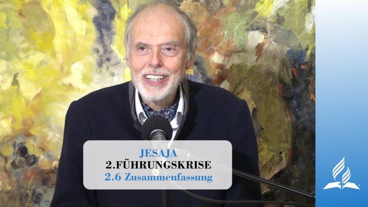 2.6 Zusammenfassung – FÜHRUNGSKRISE | Pastor Mag. Kurt Piesslinger