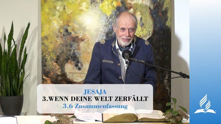 3.6 Zusammenfassung – WENN DEINE WELT ZERFÄLLT   Pastor Mag. Kurt Piesslinger