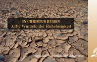 3.DIE WURZELN DER RUHELOSIGKEIT – IN CHRISTUS RUHEN   Pastor Mag. Kurt Piesslinger / für junge Leute