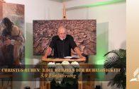 3.0 Einführung – DIE WURZELN DER RUHELOSIGKEIT   Pastor Mag. Kurt Piesslinger / für Jugend