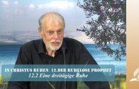 12.2 Eine dreitägige Ruhe – DER RUHELOSE PROPHET   Pastor Mag. Kurt Piesslinger / für junge Leute